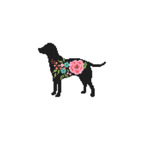Labrador Retriever cross stitch