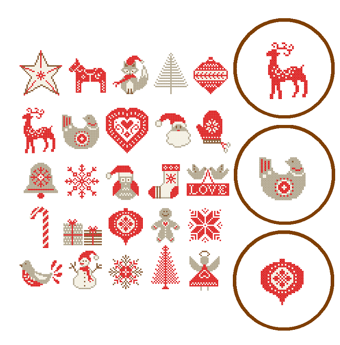Free Printable Christmas Ornament Cross Stitch Patterns.25 Christmas Ornaments Cross Stitch Modern Christmas Cross Stitch Pattern Nordic Christmas Ornaments Cross Stitch Scandinavian Theme