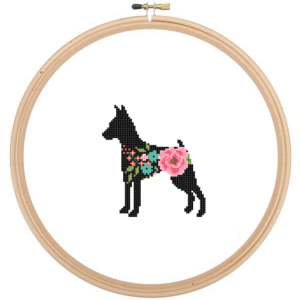 Miniature Pinscher cross stitch