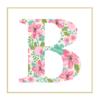 Floral B cross stitch
