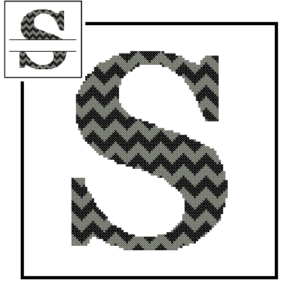 Chevron S Monogram cross stitch