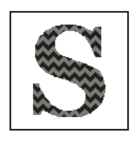 Chevron S Monogram cross stitch