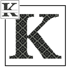 diamond K Monogram cross stitch