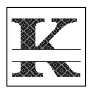 diamond K Monogram cross stitch