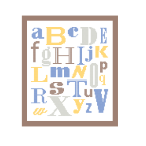 ABC cross stitch