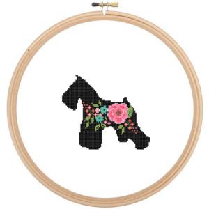 Miniature Schnauzer cross stitch