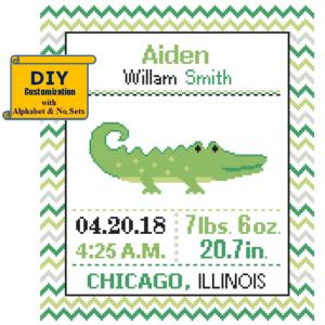Alligator cross stitch