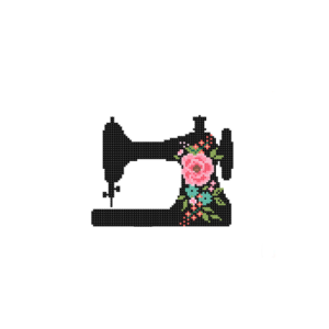 floral Sewing machine cross stitch