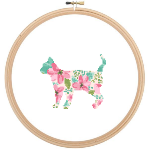 American Shorthair cat cross stitch