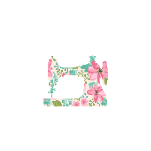 Sewing Machine cross stitch floral