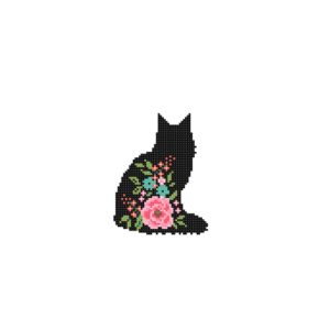 Main Coon cat cross stitch