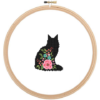 Main Coon cat cross stitch