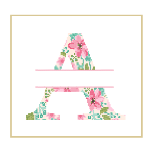 Floral A cross stitch