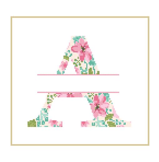 Floral A cross stitch