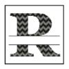 Chevron R Monogram cross stitch