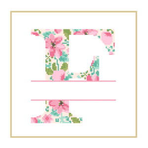 Floral F cross stitch