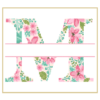 Floral M cross stitch
