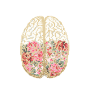Floral Brain cross stitch