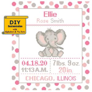 Baby elephant cross stitch