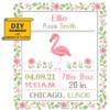Flamingo birth cross stitch