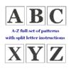 A-Z monogram cross stitch