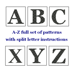 A-Z monogram cross stitch
