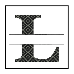 diamond L Monogram cross stitch