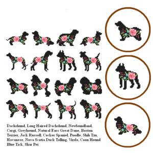 Mini Dog Motiffs 3