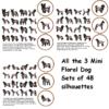 Mini Dog Motiffs cross sttch