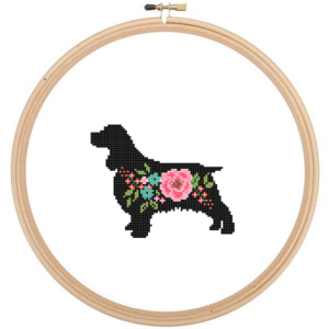 Springer Spaniel cross stitch