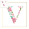 Floral V cross stitch