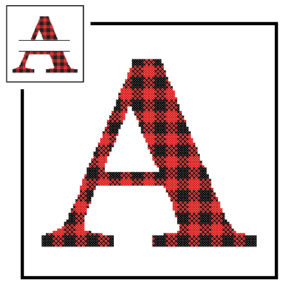 Buffalo Plaid A cross stitch