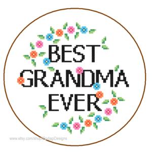 Best Grandma Ever cross stitch