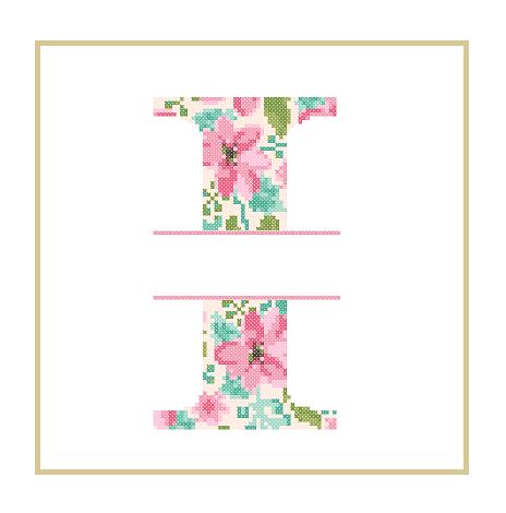 Floral I cross stitch