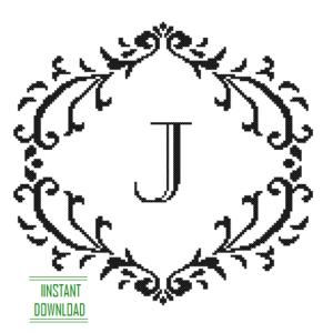 Monogram J alphabet