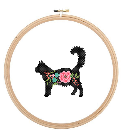 Main Coon cross stitch