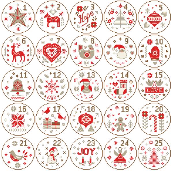 Nordic Christmas cross stitch