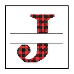 Buffalo Plaid J cross stitch