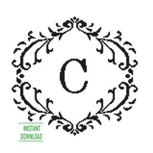 Monogram C alphabet