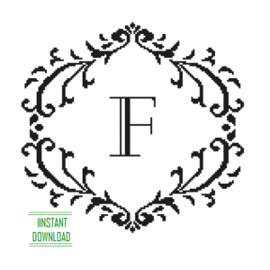 Monogram F alphabet