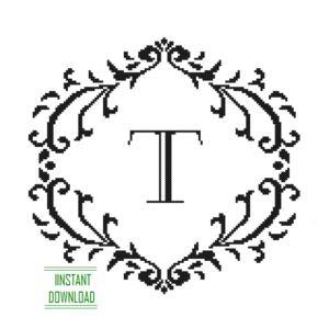 Monogram T alphabet
