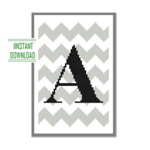 A monogram cross stitch