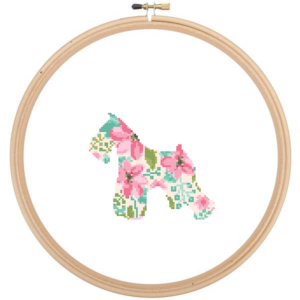 Miniature Schnauzer Dog cross stitch