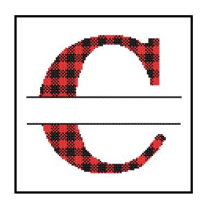 Buffalo Plaid C cross stitch
