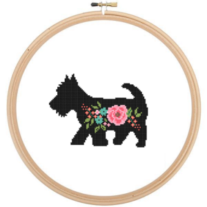 Scottish Terrier cross stitch