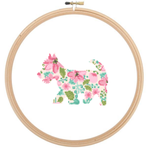 Scottish Terrier Dog cross stitch