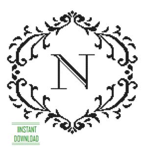 Monogram N alphabet