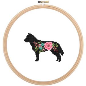 Siberian Husky cross stitch