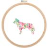 Siberian Husky Dog cross stitch
