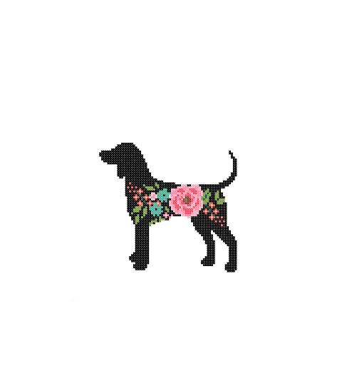 Coon hound cross stitch